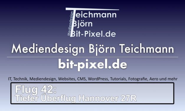 "Flug 42 – Tiefer Überflug Piste <span class=""caps"">27R</span> Hannover <span class=""caps"">EDDV</span>"