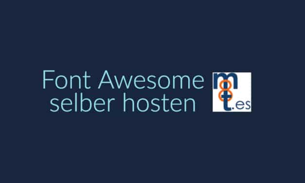 Font Awesome auf eigenem Server hosten
