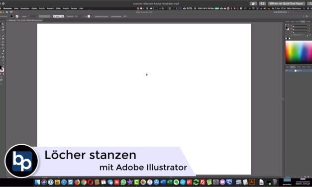 Löcher und For­men stan­zen – Ado­be Illustrator