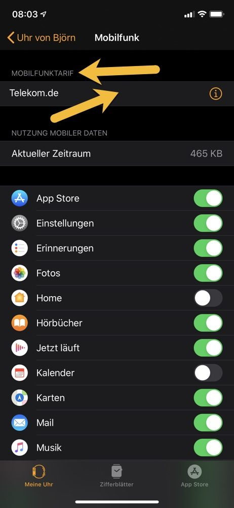 Mobilfunktarif verbinden 7