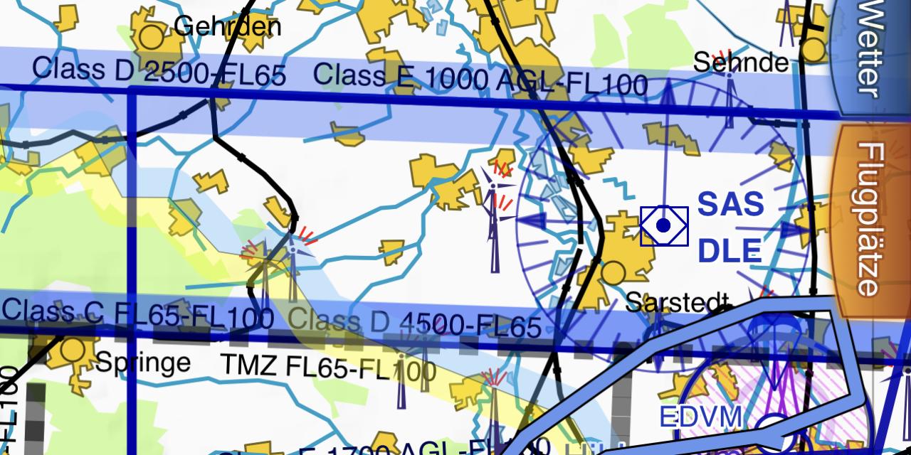 Flug mit der Bristell von Hildesheim nach Coppenbrügge